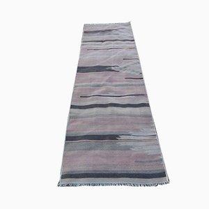 Alfombra de pasillo turca Mid-Century de lana