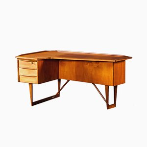 Mid-Century Danish Teak Desk by Peter Løvig Nielsen for Sibast, 1960s