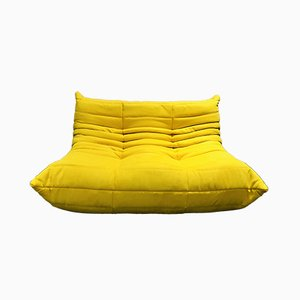 Yellow Togo Loveseat by Michel Ducaroy for Ligne Roset, 1970s