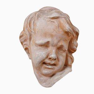 Busto de jardín de rostro de un niño de Cereghetti, años 60