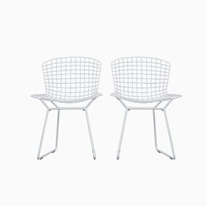 Mid-Century Modell 420 Wire Chair von Harry Bertoia für Knoll International, 2er Set