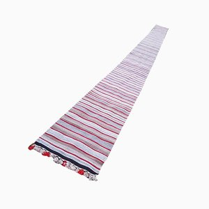 Mid-Century Striped Camel Wool Rug, 1970s