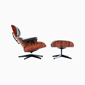 Lounge Chair & Ottoman by Charles & Ray Eames for Mobilier International, 1973