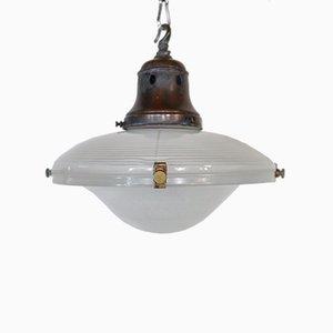 Lampe Flying Saucer de Holophane, 1920s