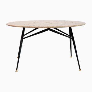 Table Basse avec Dessus en Marbre Rose, Italie, 1950s