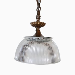 Antique Pendant Light from Holophane