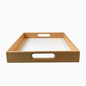 Vintage Danish Beech & Formica Serving Tray from Ehapa, 1970s
