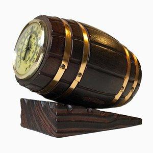 Termómetro vintage en forma de barril de vino, años 60