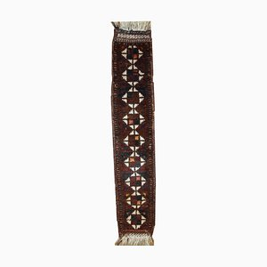 Alfombra de Oriente Medio antigua con decorado de cola de caballo, década de 1880