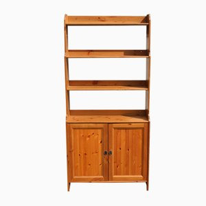 Pine Bookshelves with Cupboard, 1960s
