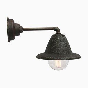 Vintage Fabrik Wandlampe aus gegossenem Aluminium