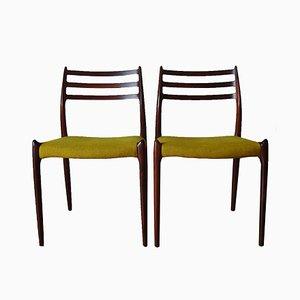 Chaises Modèle 78 par Niels O. Møller pour J.L. Møllers, 1960s, Set de 2