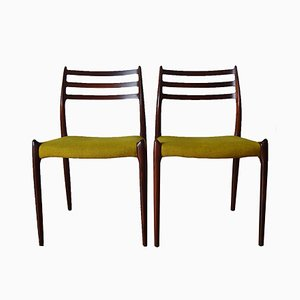 Model 78 Chairs by Niels O. Møller for J.L. Møllers, 1960s, Set of 2