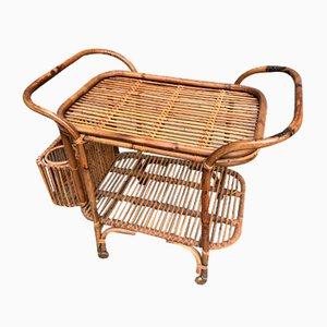 Vintage Bamboo Bar Cart, 1960s