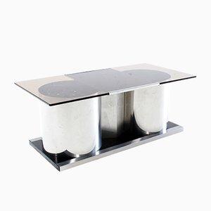 Tavolino da caffè vintage con mobile bar di Francois Monnet, anni '70