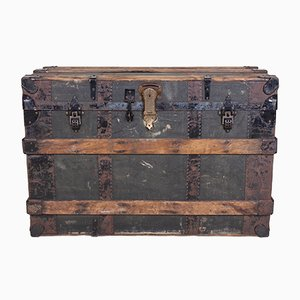 Large Vintage Wooden Trunk