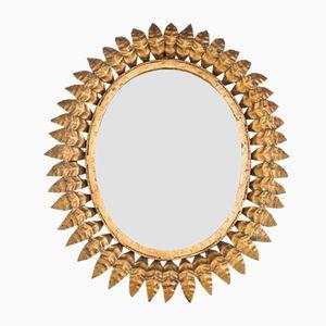 Round Mid-Century Mirror