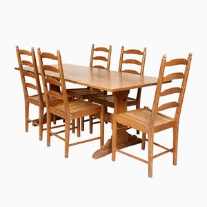 Vintage Pine Dining Table Set from Ercol