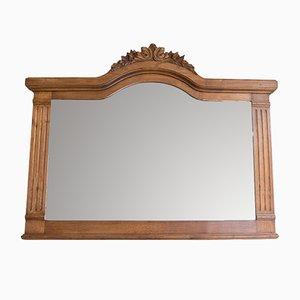 Vintage Spiegel mit Rahmen aus Kastanienholz