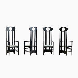 Argyle Stühle von Charles Rennie Mackintosh für Cassina, 1999, 4er Set