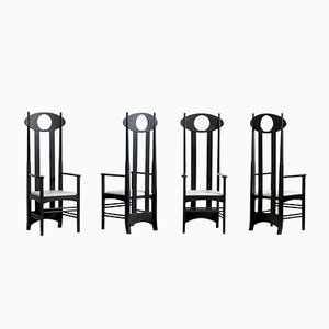 Sedie Argyle di Charles Rennie Mackintosh per Cassina, 1999, set di 4