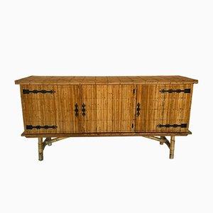 Sideboard aus Rattan, 1950er