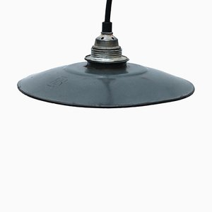 Vintage Industrial French Enamel Pendant Light