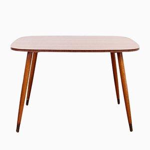 Tavolino da caffè vintage con gambe a compasso