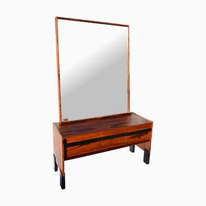 Large Swedish Rosewood Dresser & Mirror from Glas & Trä, 1960s