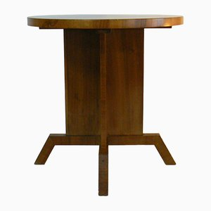 Bauhaus Walnut Side Table, 1920s