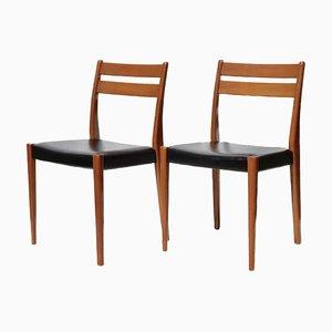 Mid-Century Esszimmerstühle aus Teak von Svegards Markaryd, 2er Set