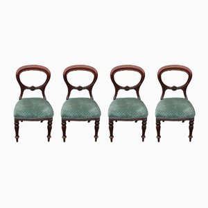 Mahogany Balloon Back Dining Chairs, 1905, Set of 4