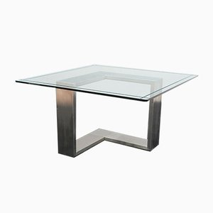 Steel & Crystal Table, 1970s