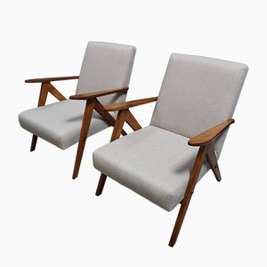 Mid-Century Easy Chairs, 1960s, Set of 2