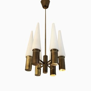 6-Arm Chandelier by Hans-Agne Jakobsson for Markaryd, 1960s