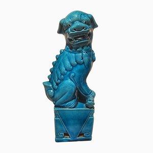 Statuina in porcellana blu, Cina, anni '30