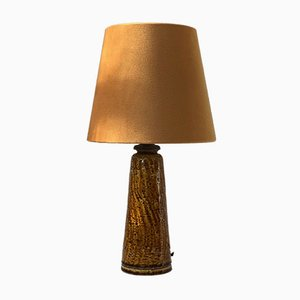 Vintage Mustard Chamotte Lamp by Gunnar Nylund for Rörstrand