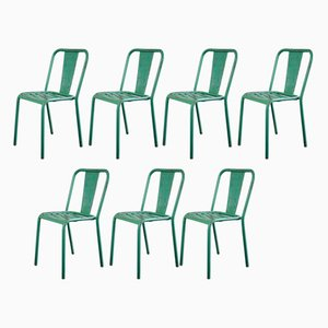 T4 Stühle von Xavier Pauchard für Tolix, 1930er, Set of 7