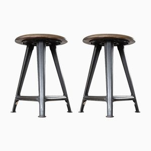 Industrial Stools by Chemnitz from Rowac, Set of 2