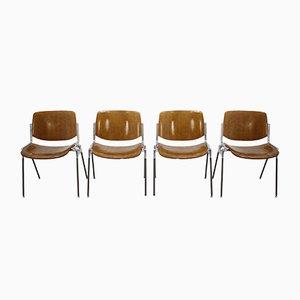 Mid-Century Esszimmerstühle von Giancarlo Piretti für Castelli, 1960er, 4er Set