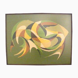 Mid-Century Wandbehang mit abstraktem Muster