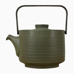 Chevron Tea Pot by G. Pemberton for Denby England, 1960s