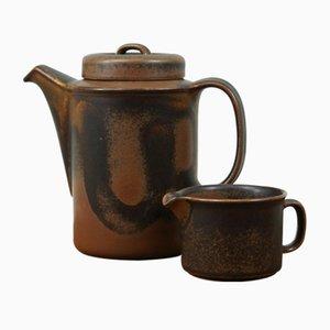 Juego de jarra Ruska y jarra para leche vintage de gres de Ulla Procope para Arabia