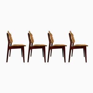Schwedische Vintage Stühle, 1960er, 4er Set