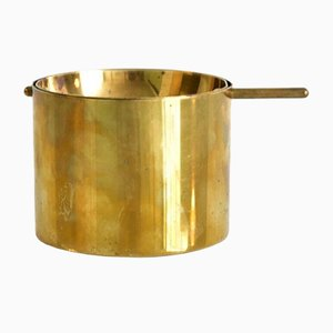 Large Brass Ashtray by Arne Jacobsen for Stelton, 1950s