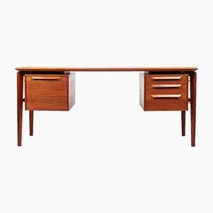 Vintage Schreibtisch aus Teak von Ib Kofod-Larsen für Seffle Möbelfabrik, 1960er