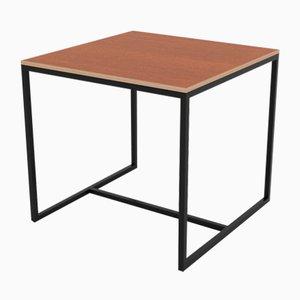 Petite Table de Salle à Manger Série Underline en Merisier Laminé Plaqué sur Cadre en Acier de CRP.XPN