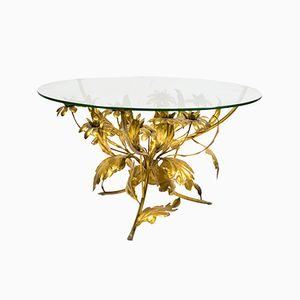 Gold Plated Bouquet of Flowers Table by Hans Kögl, 1960s