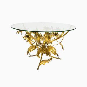 Tisch mit vergoldetem Gestell in Blumenstrauß-Optik von Hans Kögl, 1960er