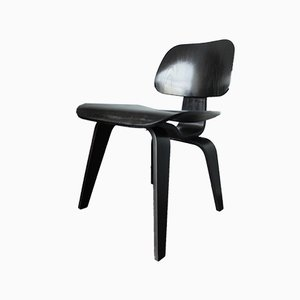 Black DCW Chair by Charles & Ray Eames for Herman Miller, 1980s